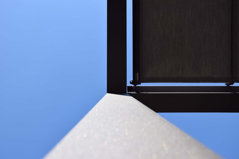 Strakke pergola aluminium zonnedoek