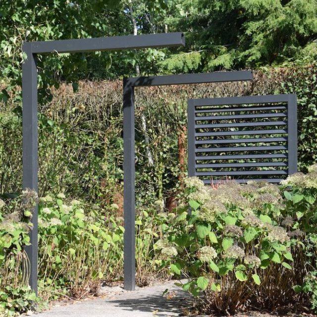Aluminium frames en lamellen tuin