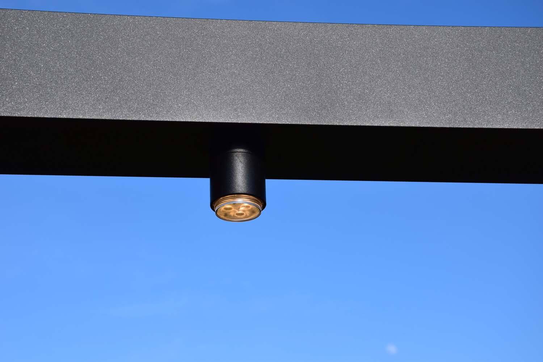 Metalen pergola verlichting